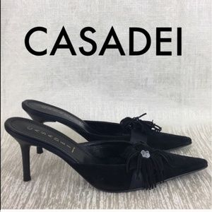 👑CASADEI LOVELY EMBELLISHED HEELS 💯AUTHENTIC